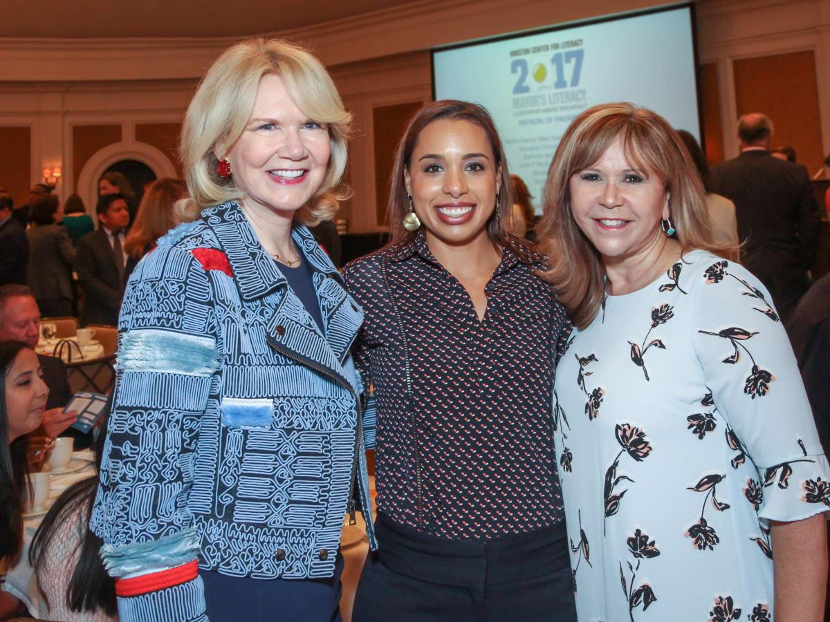 Suzan Deison, Lacey Dalcour Salas and Cyndy Garza Roberts/MayorsLiteracyBreakfast