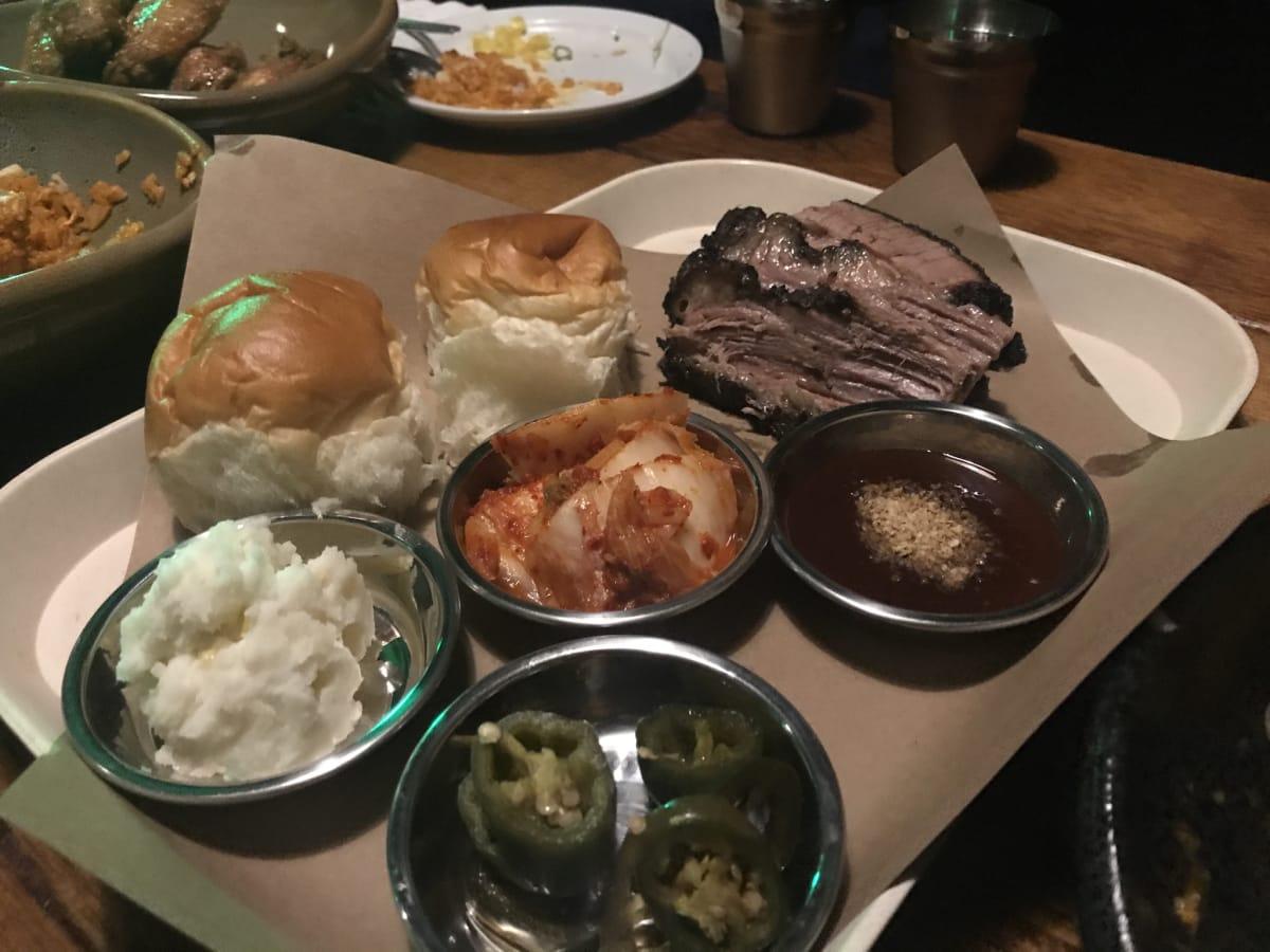 Ohn Korean Eatery brisket plate