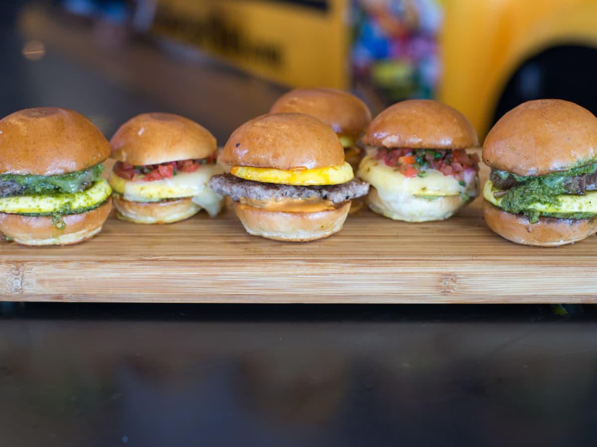 Bernie's Burger Bus breakfast sliders
