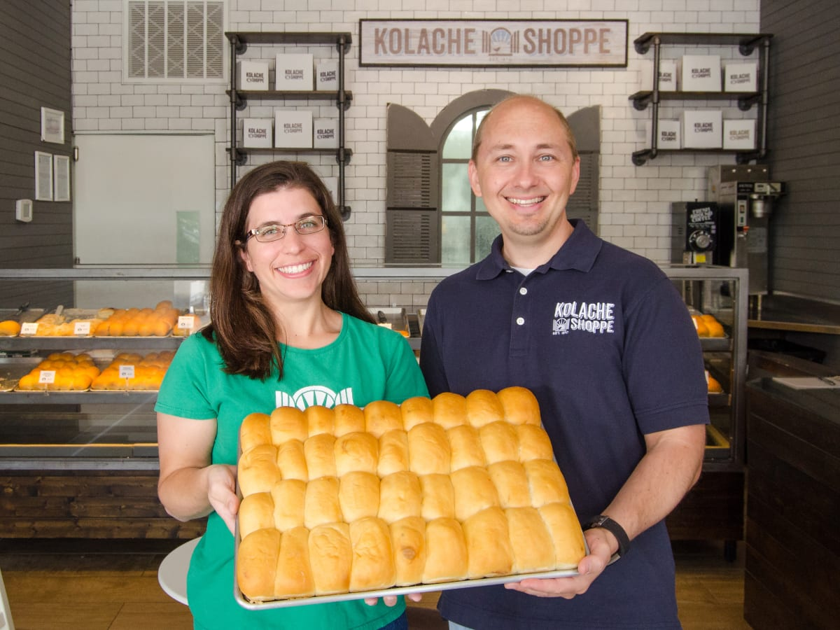 Houston, Kolache Shoppe The Heights, June 2017, owners Randy and Lucy Hines