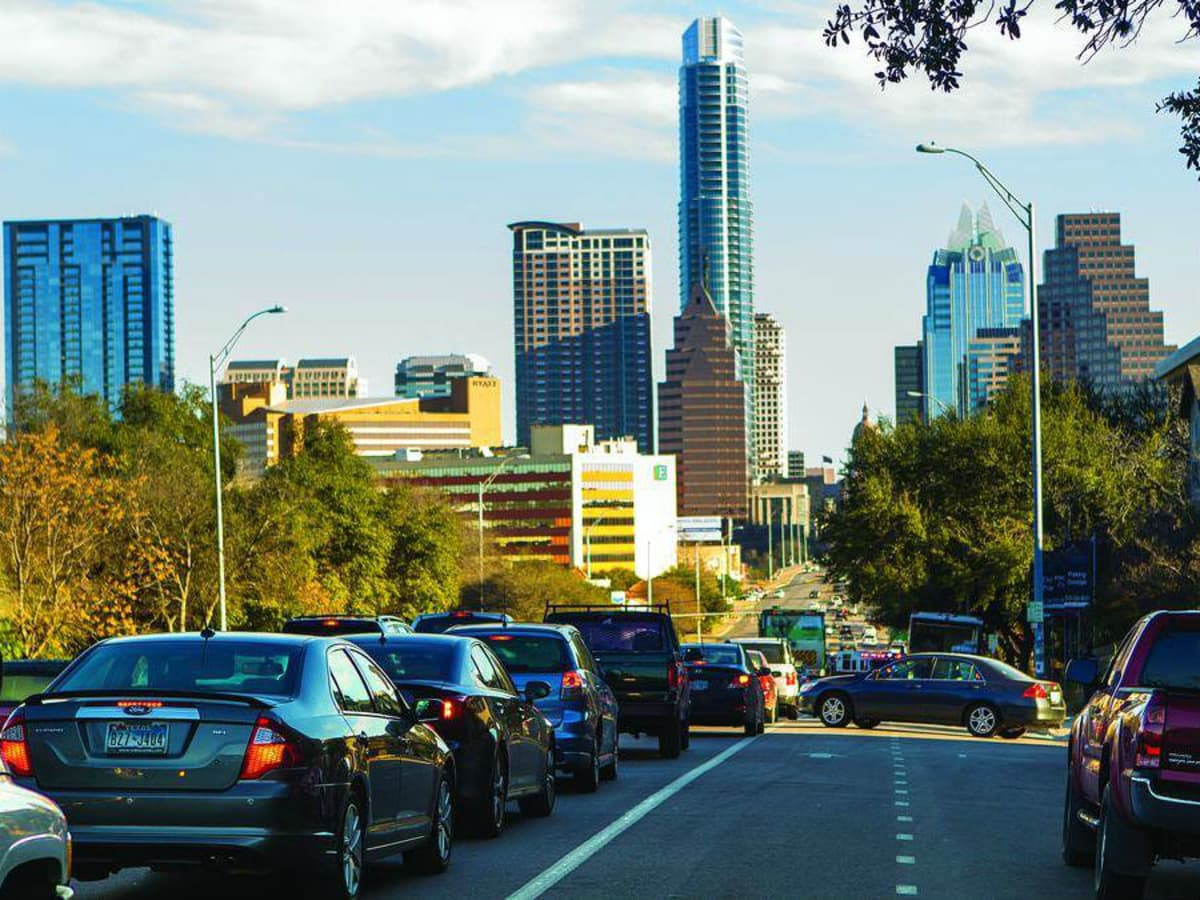 Traffic on South Congress Avenue in Austin