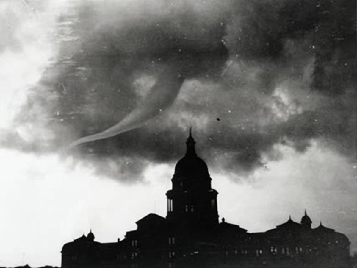 Heres your quick history of austins most extreme weather ever texas state capitol austin tornado may 4 1922 publicscrutiny Image collections