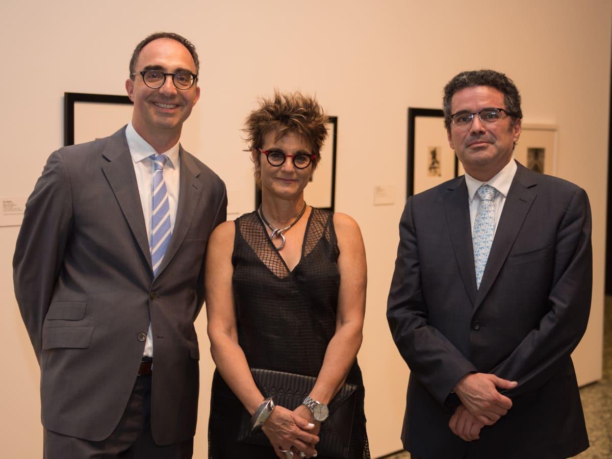 Matthew Affron, Mari Carmen Ramirez, Renato Gonzalez Fernandez at MFAH Mexican Modernism dinner