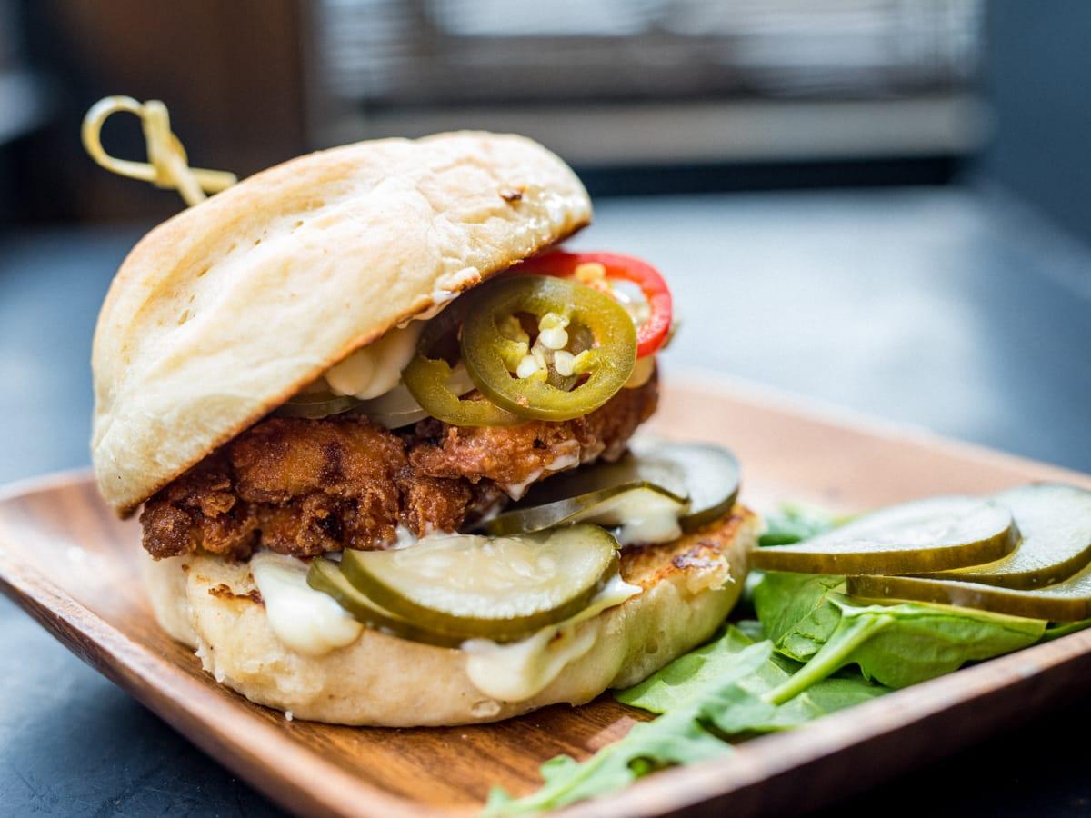 Native Hostel fried chicken sandwich