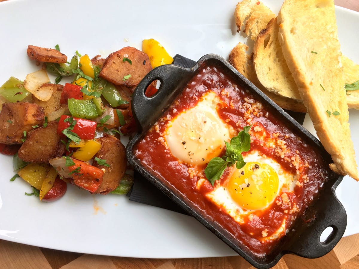Houston, new brunches, July 2017, Osso and Kristalla, Eggs Pomodoro