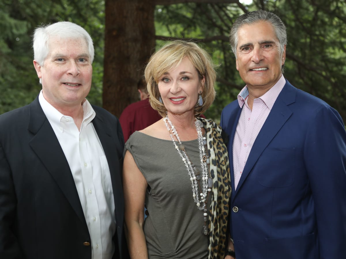Dr. Marshall Hicks, Cathy and Giorgio Borlenghi at MD Anderson Hines Aspen