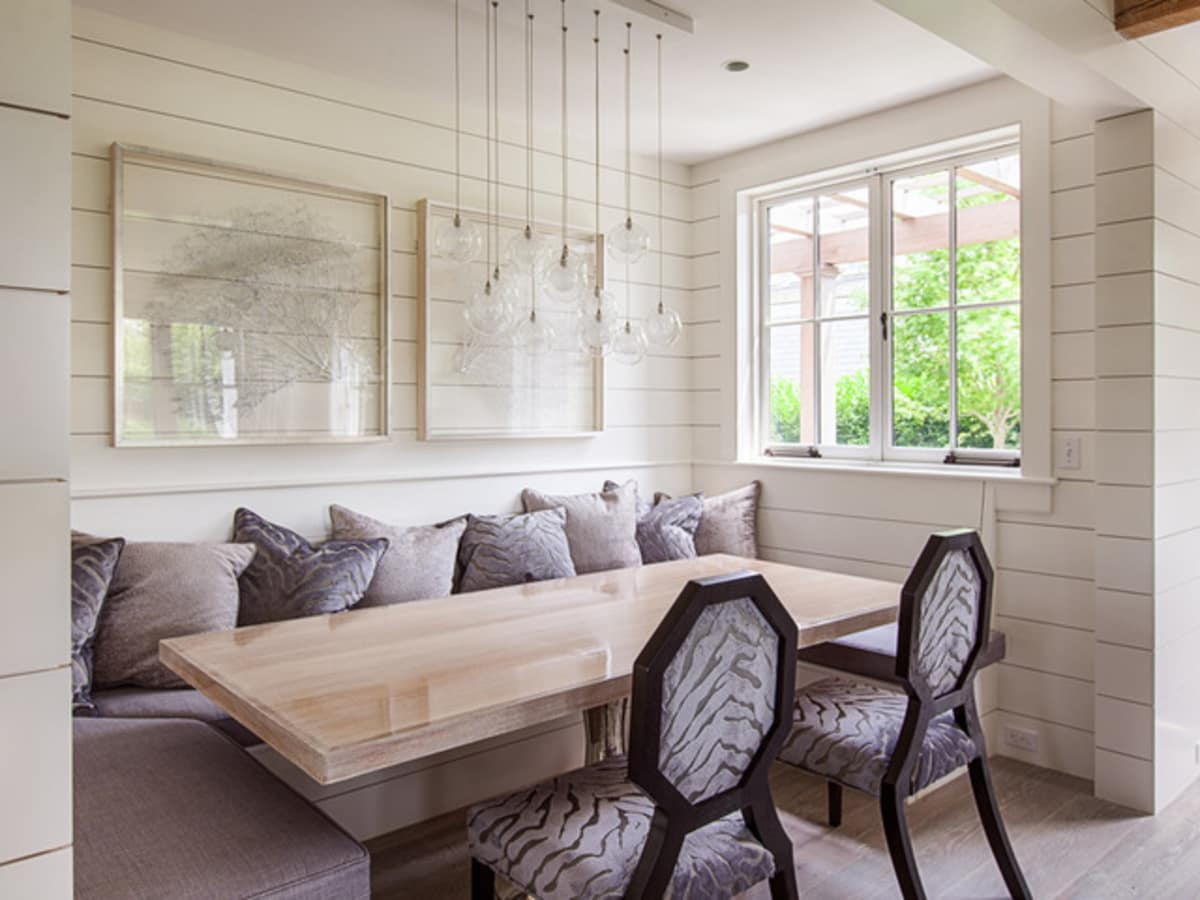 Shiplap in a dining area