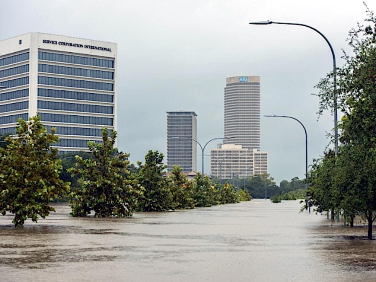 Houston, Hurricane Harvey, flood photos, allen parkway