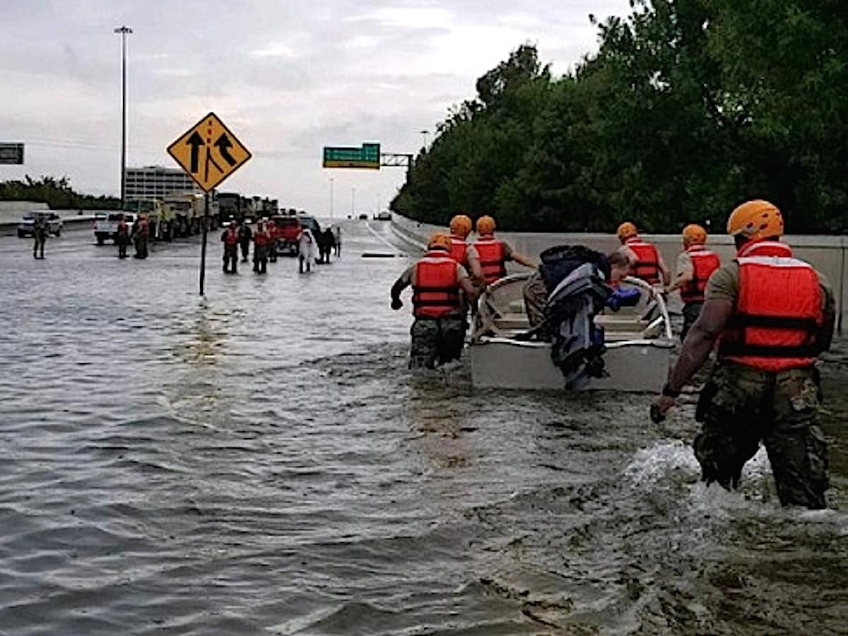 Houston, Hurricane Harvey, first responders, August 2017