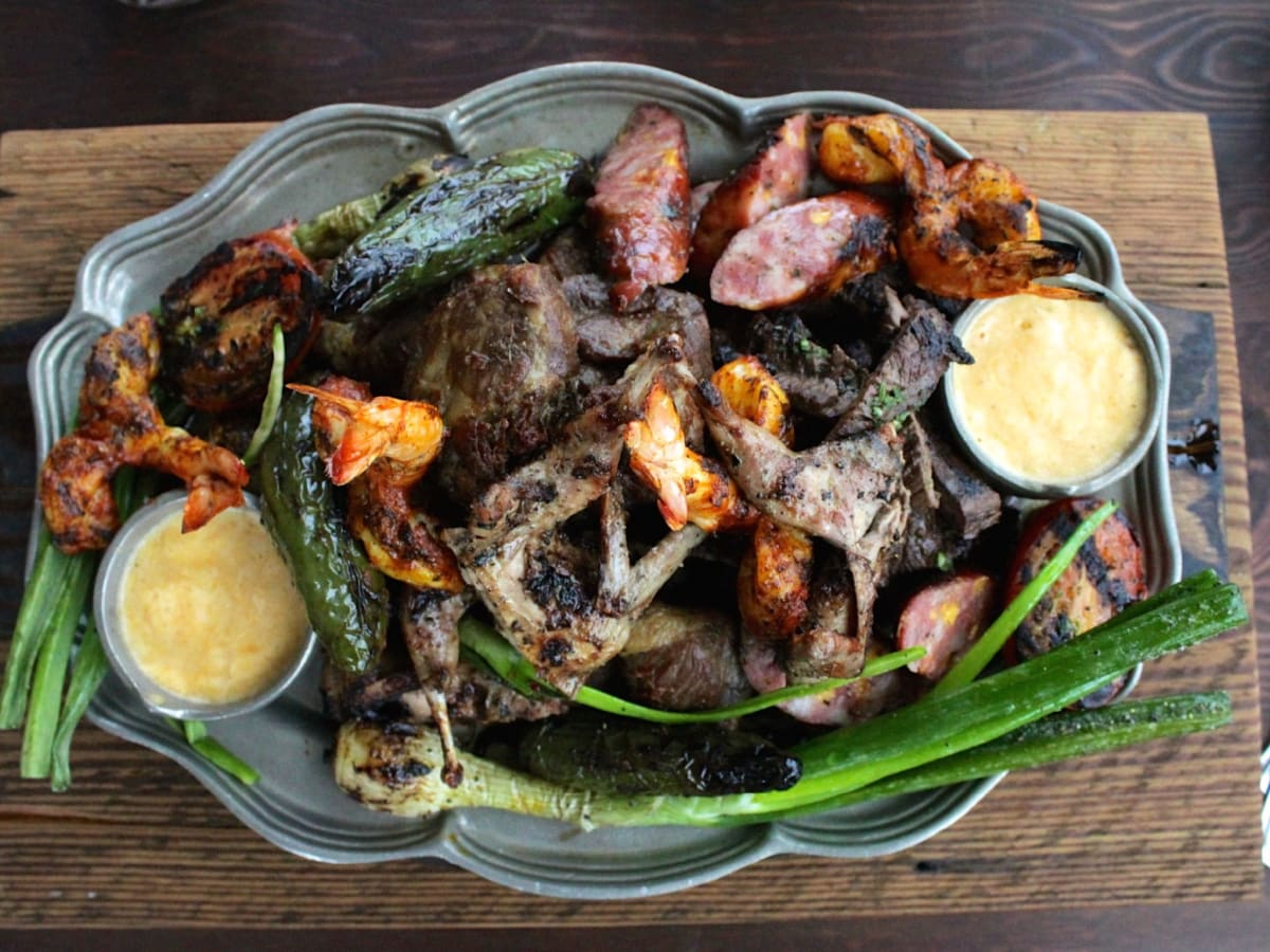 Goode Co Kitchen and Cantina parrillada fajitas overhead