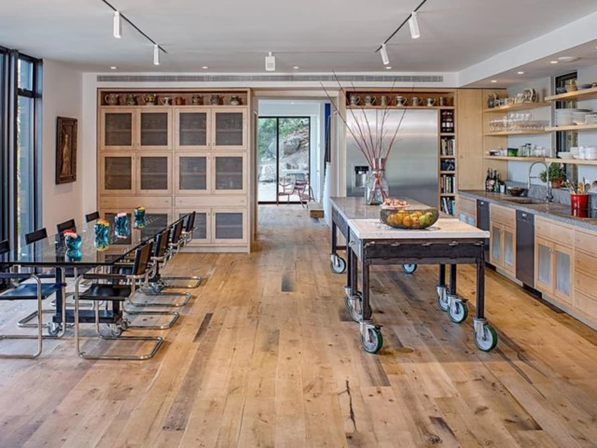 Austin cliff home Houzz open concept kitchen
