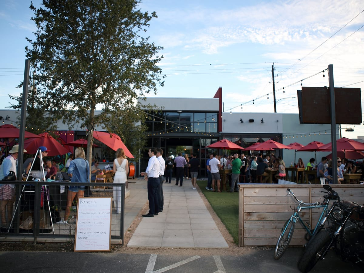Houston, Marcy, Friends of Habitat for Humanity event, FM Kitchen and Bar exterior