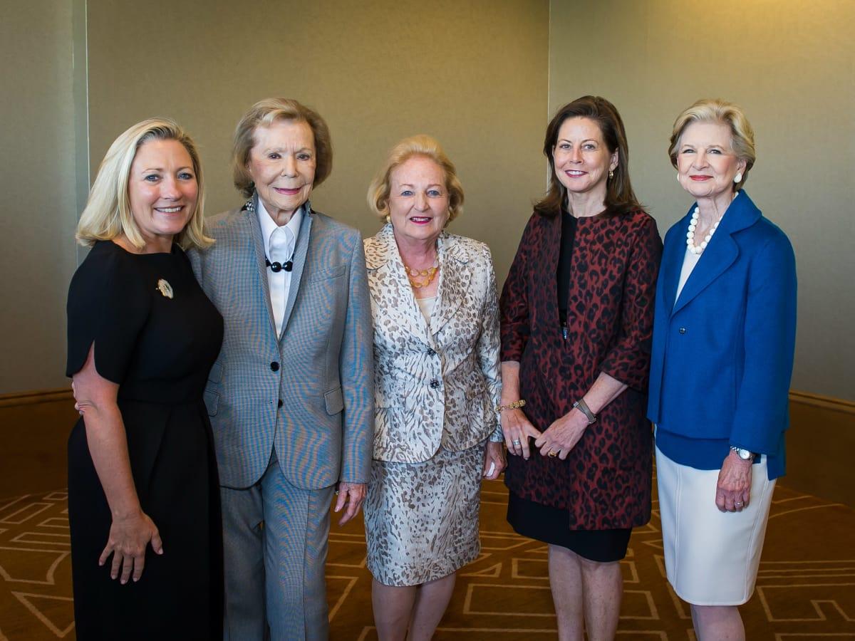 Carolyn Rathjen, Ruth Sharp Altshuler, Margot Perot, Kelly Compton, Caren Prothro