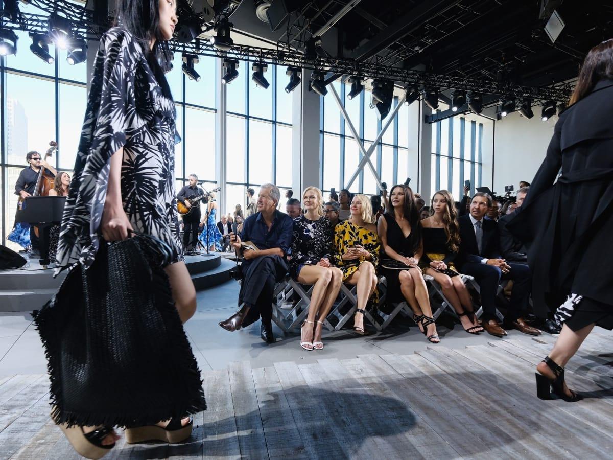 Michael Kors spring 2018, Nicole Kidman,Sara Bareilles Naomi Watts, Catherine Zeta Jones