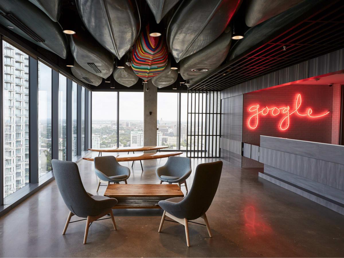 Google Austin office lobby