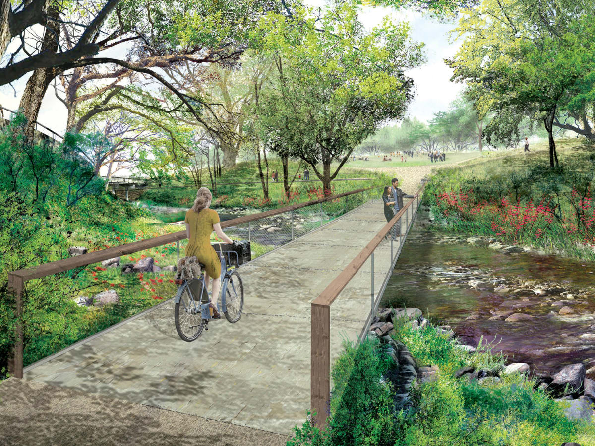 Waller Creek Plans Palm Park