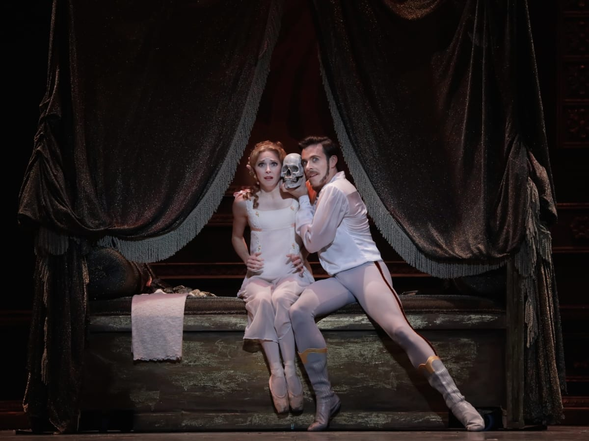 Houston Ballet Mayerling Connor Walsh as Prince Rudolf and Sara Webb as Countess Marie Larish