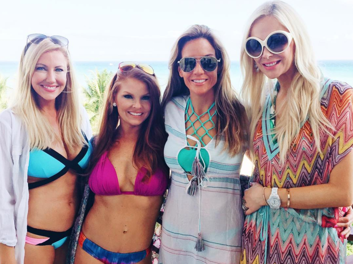 Real Housewives Stephanie, Brandi, Cary, and Kameron in Mexico