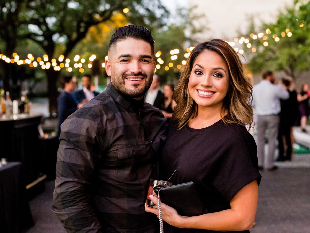 Houston, SportsMap launch party, October 2017, Franky Cardona, Jennifer Cardona