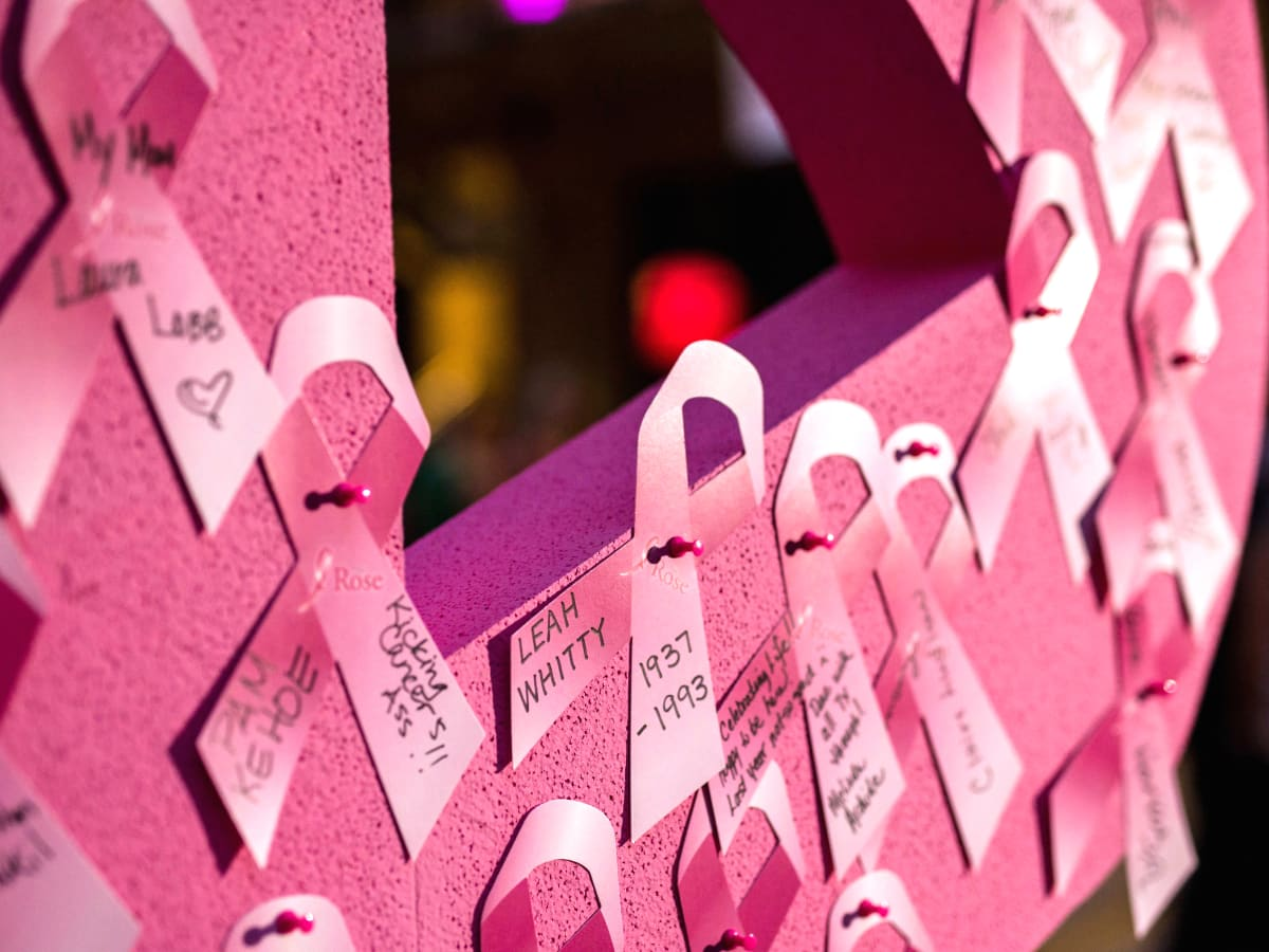 Houston, Marcy, West Ave Pink Party, October 2017, pink ribbon wall