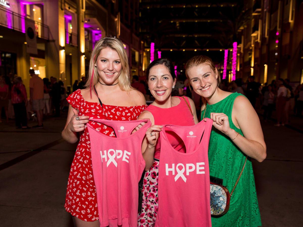 Houston, Marcy, West Ave Pink Party, October 2017, Caroline Story, Lauren Grossman, Olga Chavanelle