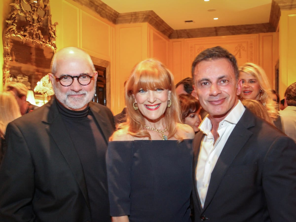 Bob and Gracie Cavnar, Monsour Tagdishi at Legacy Cocktail Party