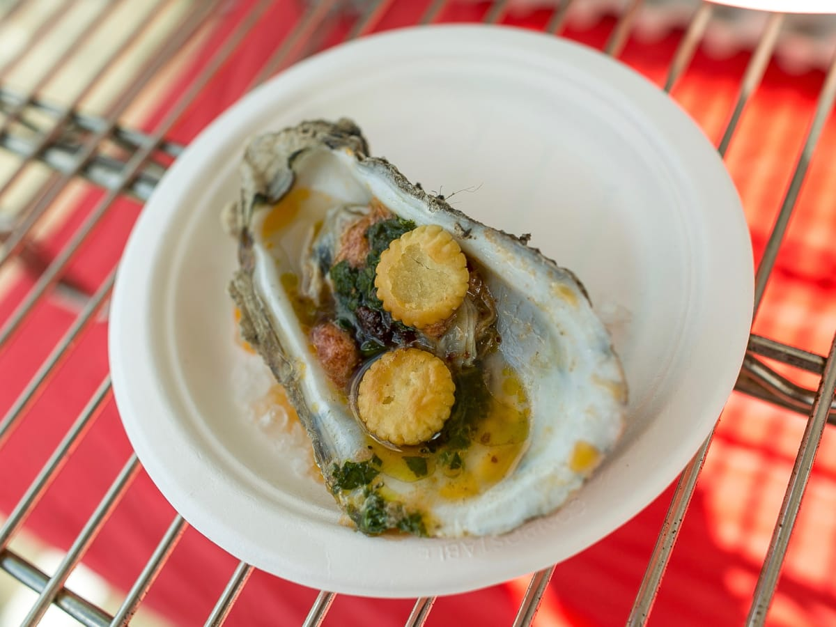 Southern Smoke 2017 Ashley Christensen smoked oyster