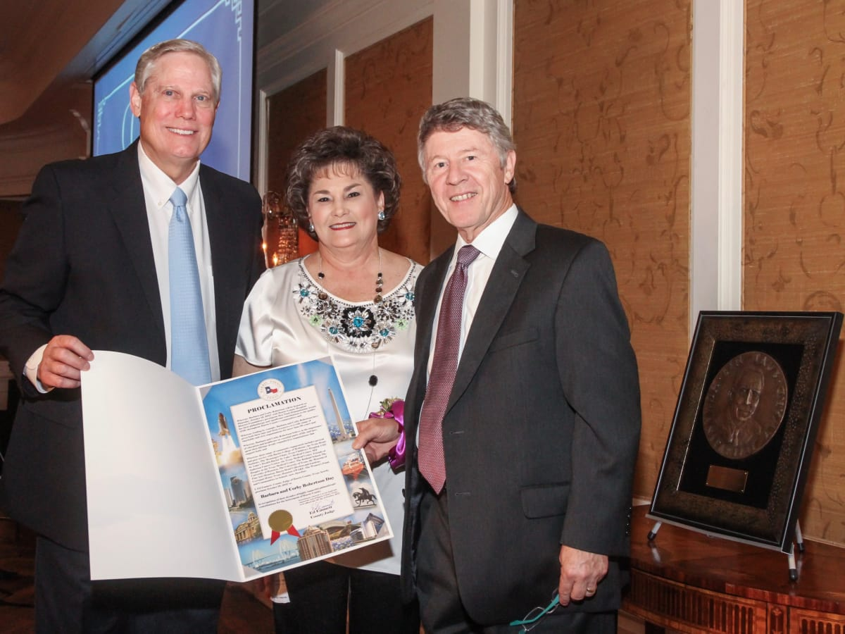 Jubilee of Caring/Corby and Barbara Robertson and Harris County Judge Ed Emmett
