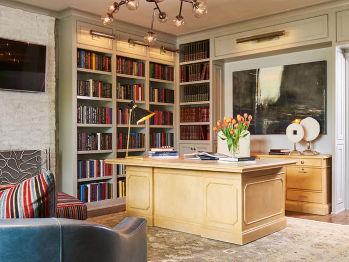 Houzz luxury estate remodel Dallas study
