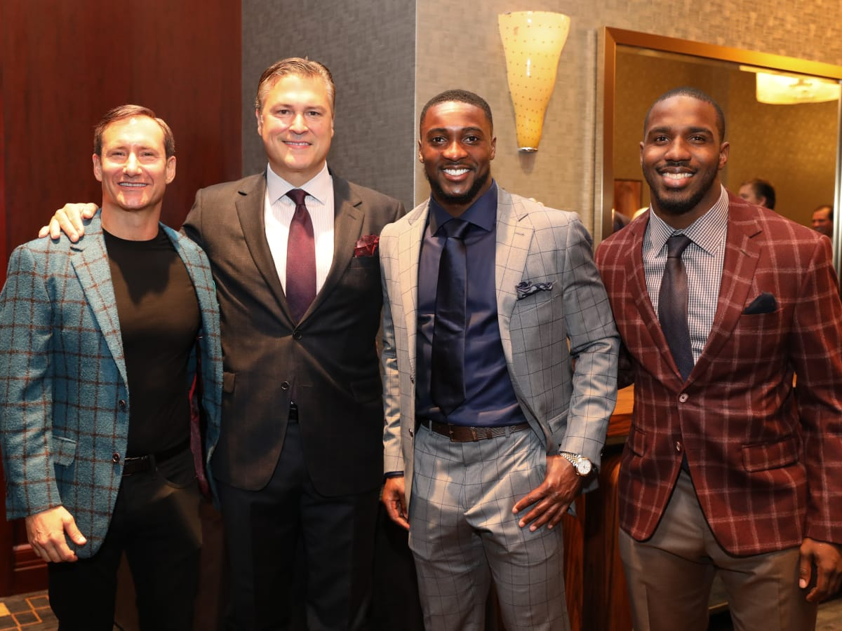 Dean Putterman, Michael Bertuccio, and Houston Texans Andre Hal and Lamar Miller at Festari Gala
