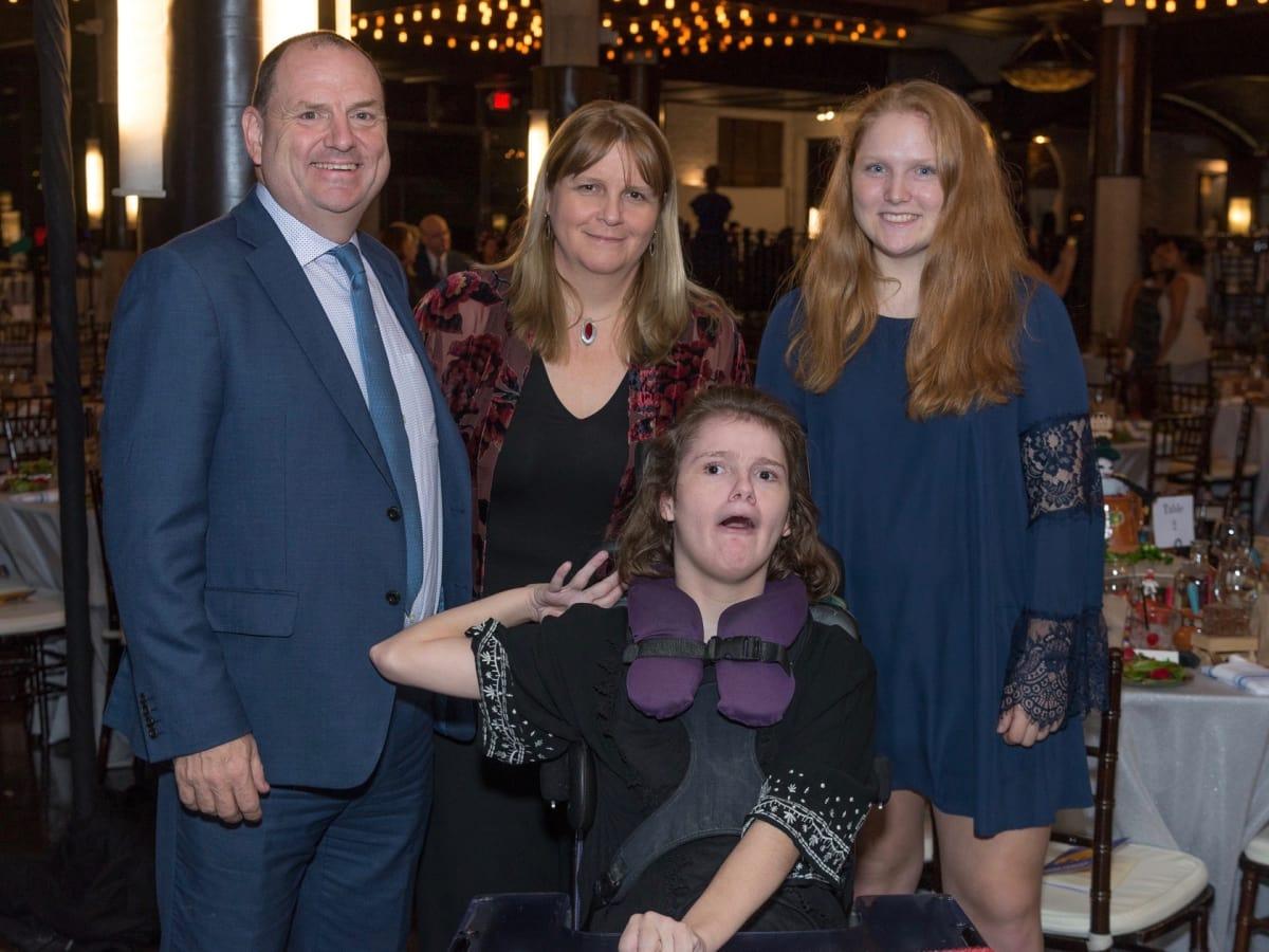 WITS gala 2017: Perryn Leech, Caroline Leech, Kirsty Leech, Jemma Leech