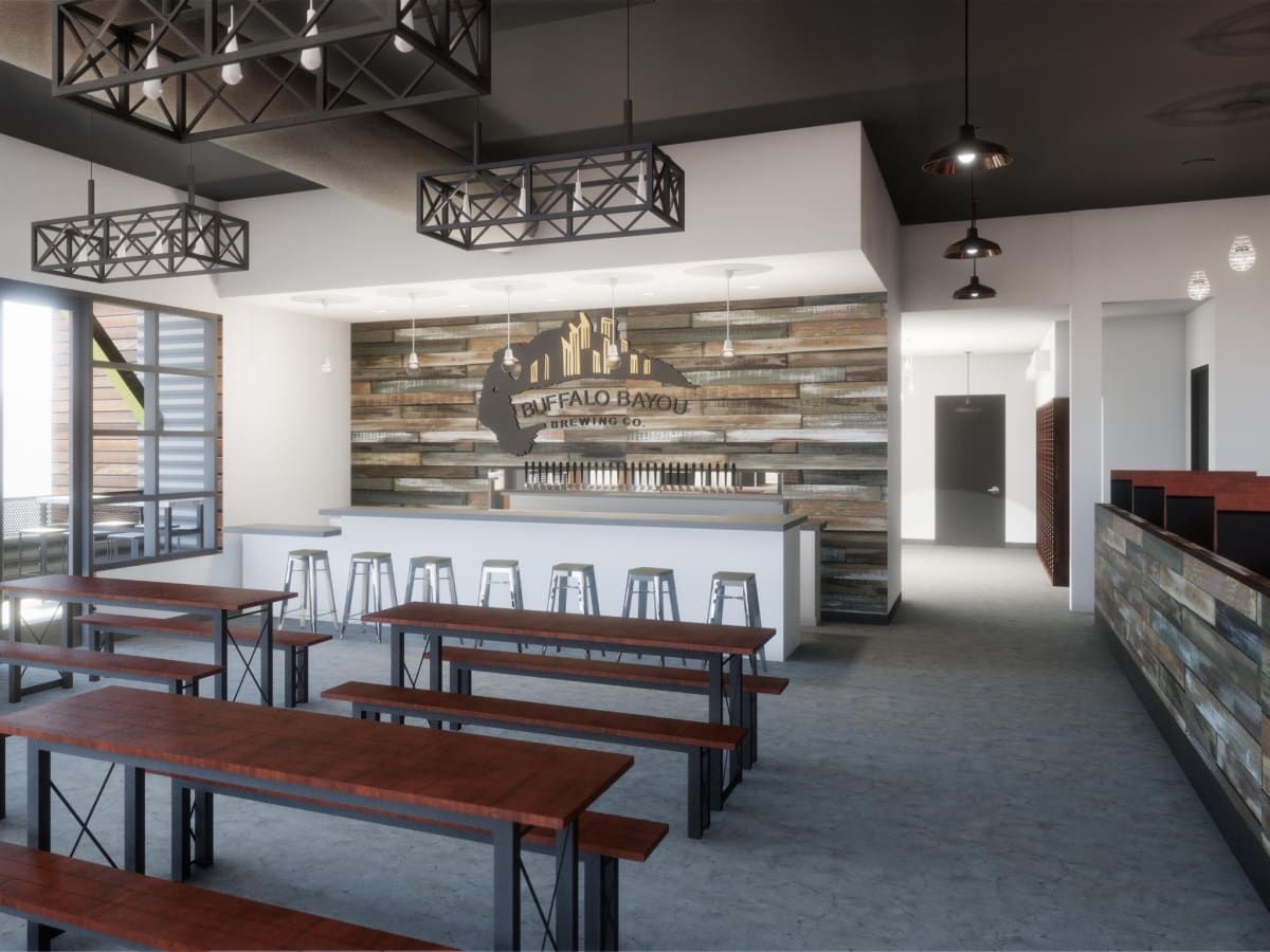 Buffalo Bayou new brewery interior view taproom