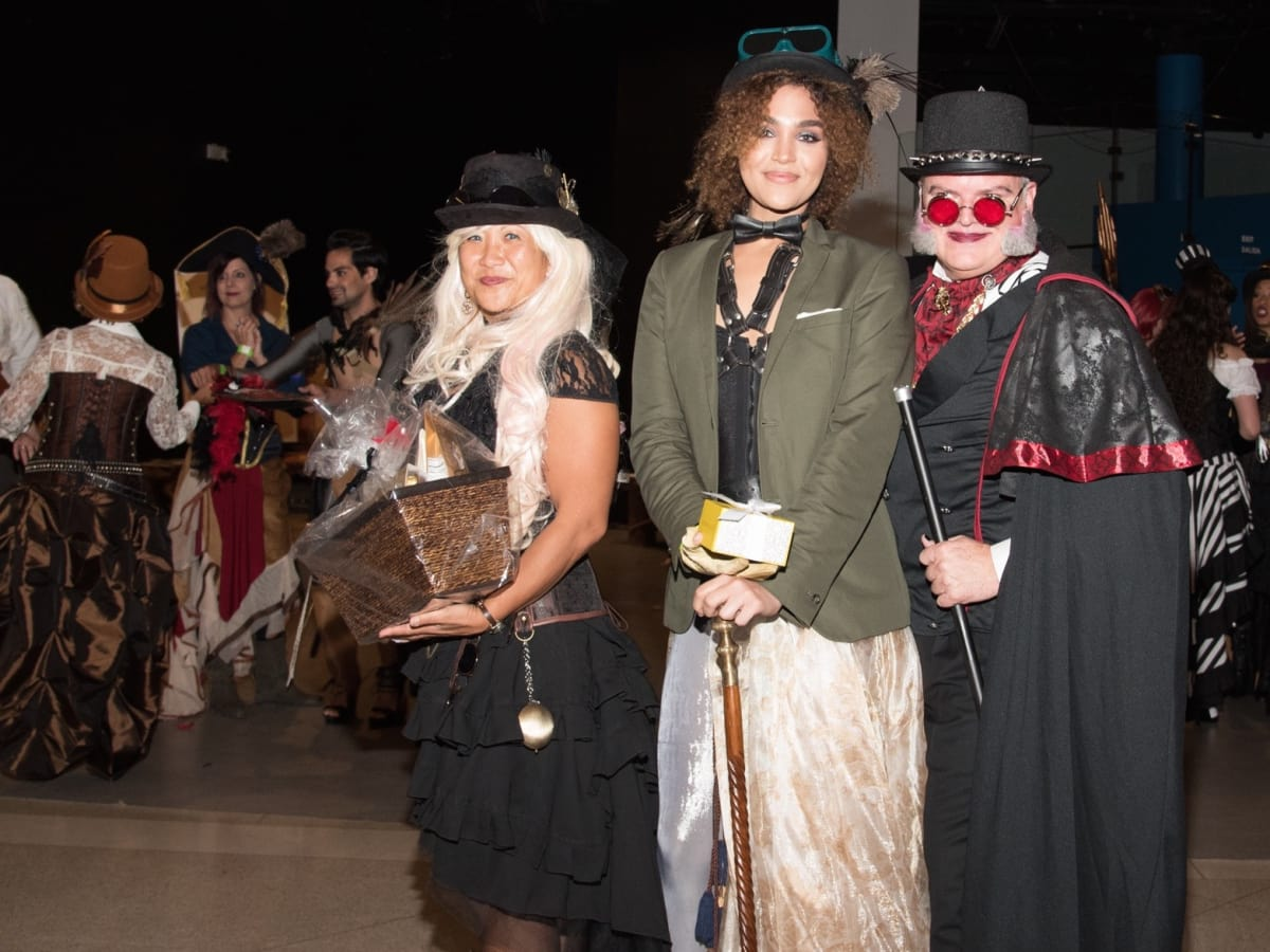 Health Museum Steampunk gala, Cindi Choi, Amy Noble, Stephen Smith costume winners