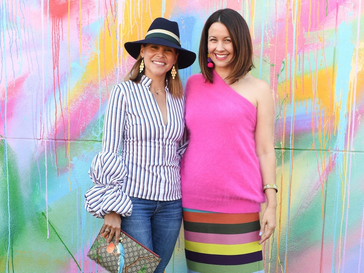 Estela Cockrell, Carrie Colbert at More Color Please launch
