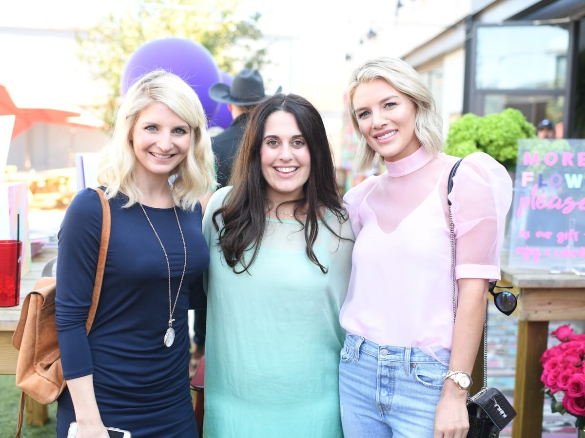 Marla Murphy, Julie Weinstein, Sage Coralli at More Color Please launch