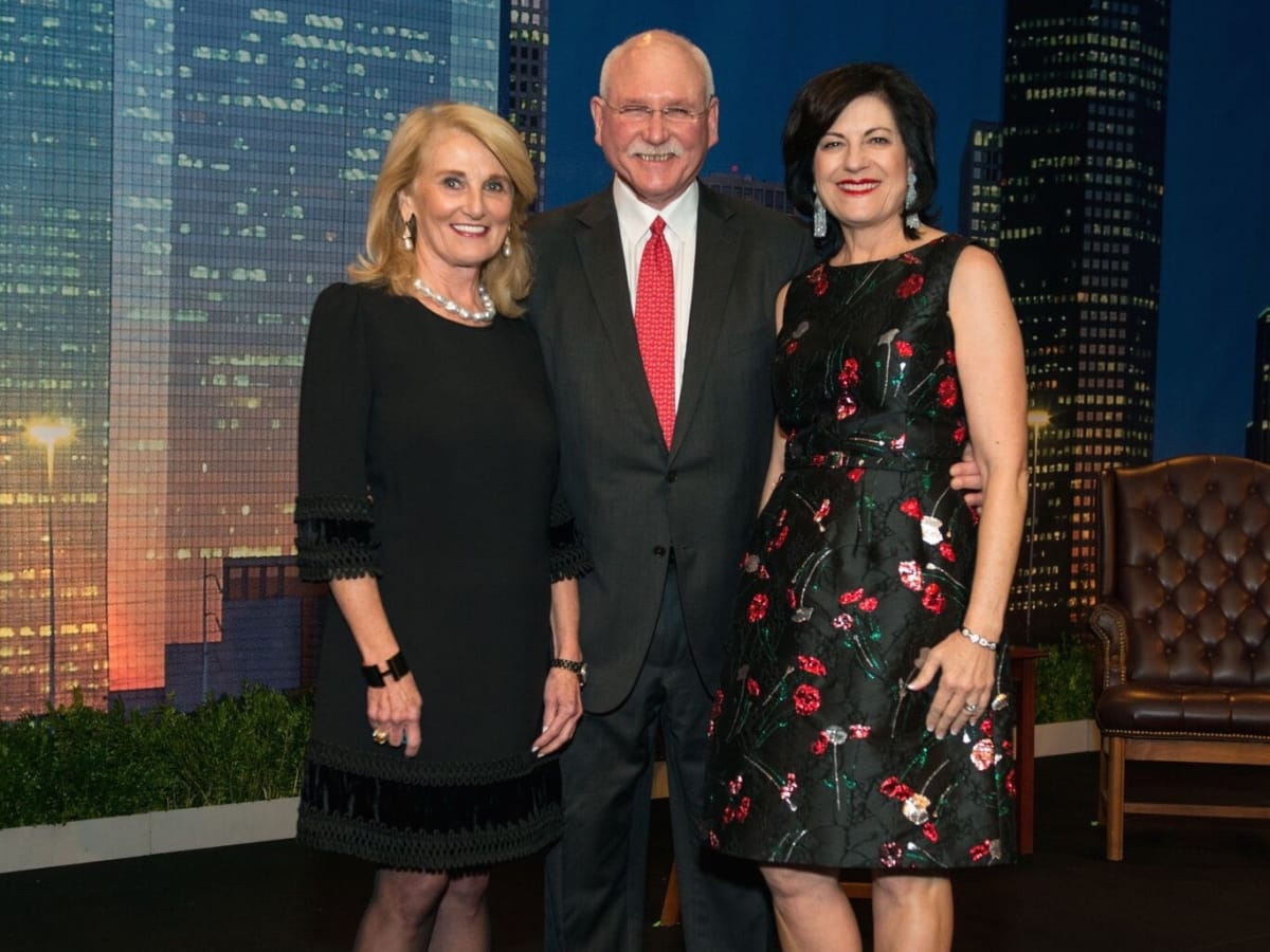 Denise Monteleone, Michael and Ellie Francisco at MD Anderson Legends dinner