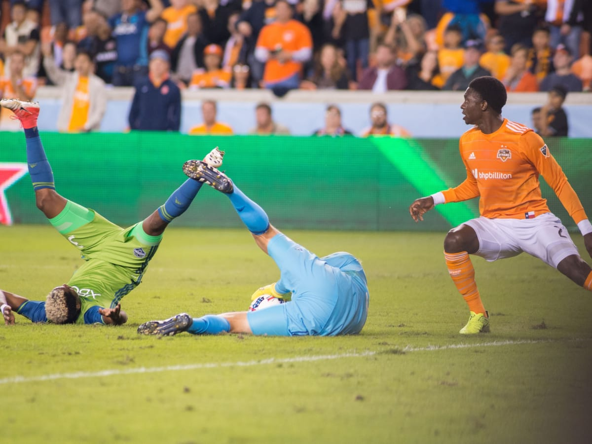 Houston Dynamo in MLS Western Conference game against Seattle