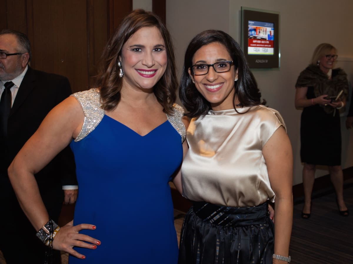 Elijah Rising gala co-chair Jacqueline Smooke and Executive Director of Crimestoppers Rania Mankarious