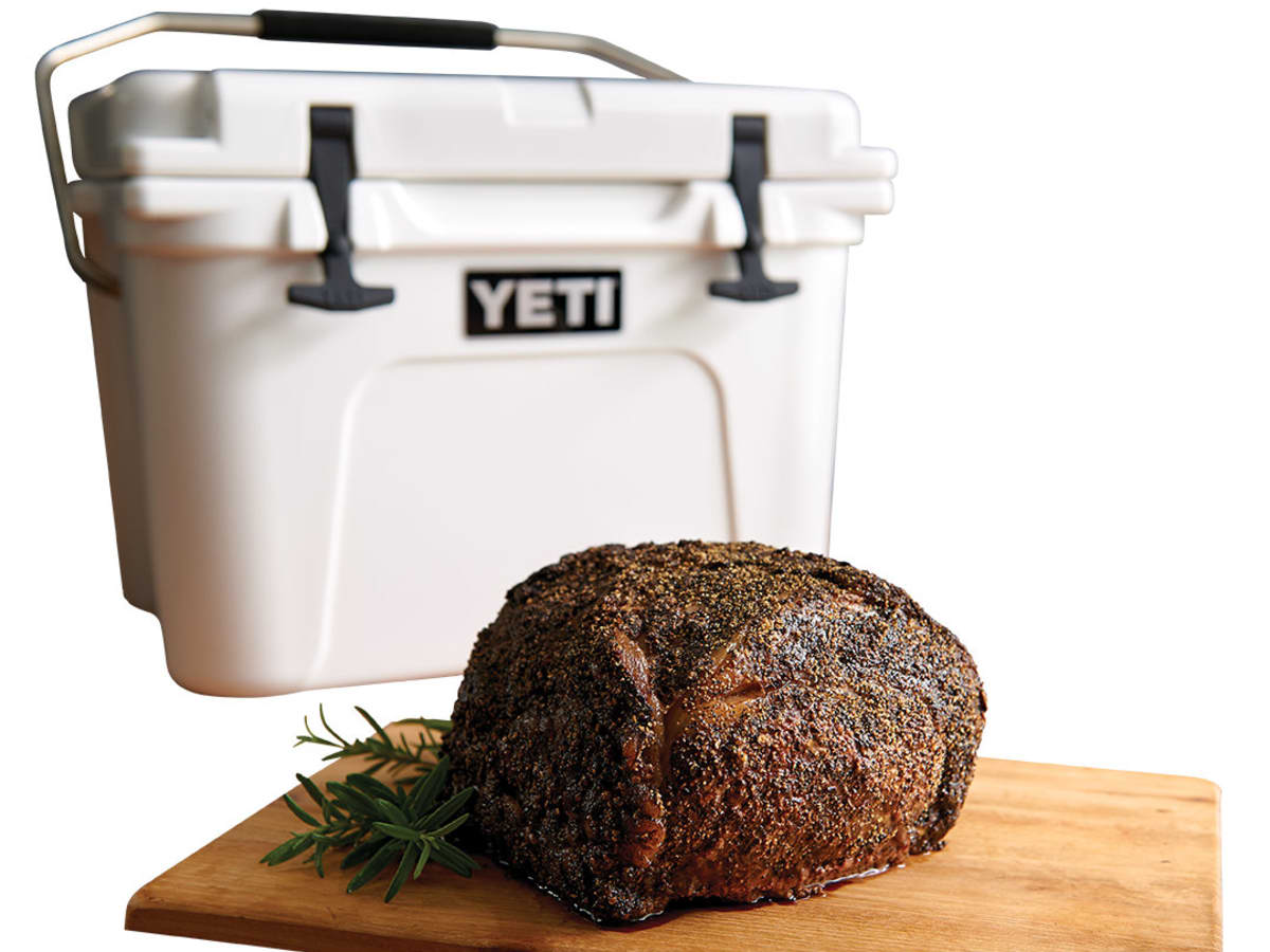 44 Farms prime rib and a Yeti cooler