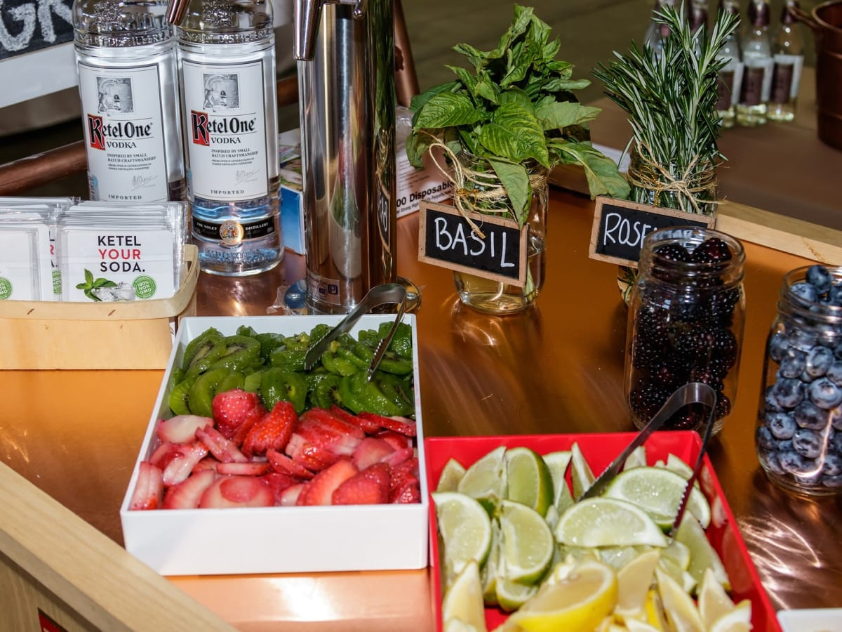 Ketel One vodka cart, 2017 CultureMap Dallas Holiday Pop-up