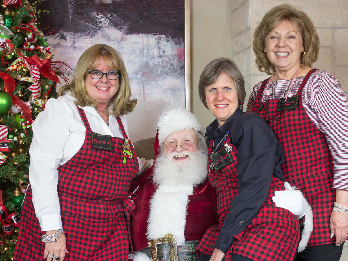 Nancy, Santa, Janet, and Jan from Kiss the Cook