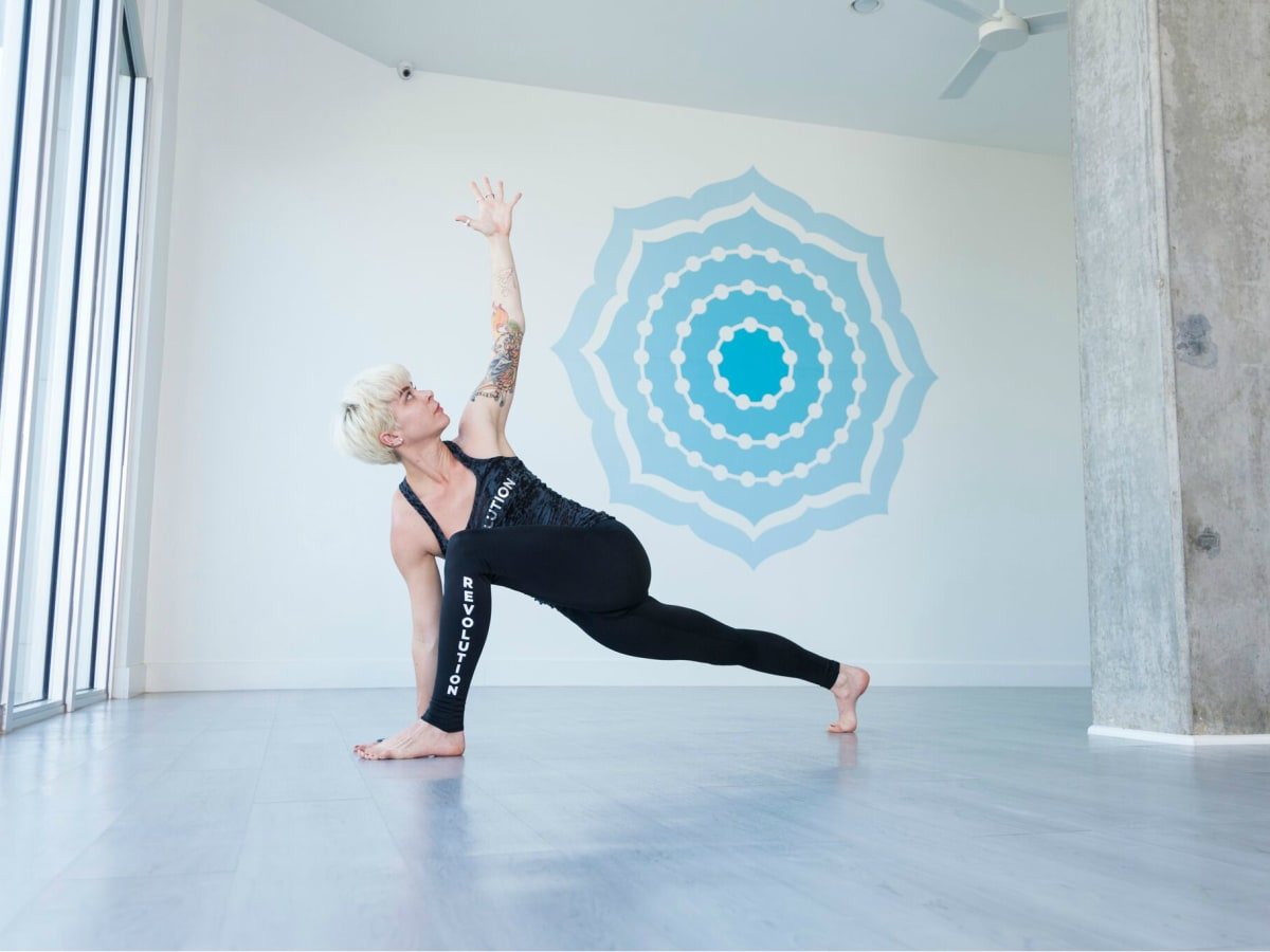 Houston yoga - Revolution Studio - woman posing