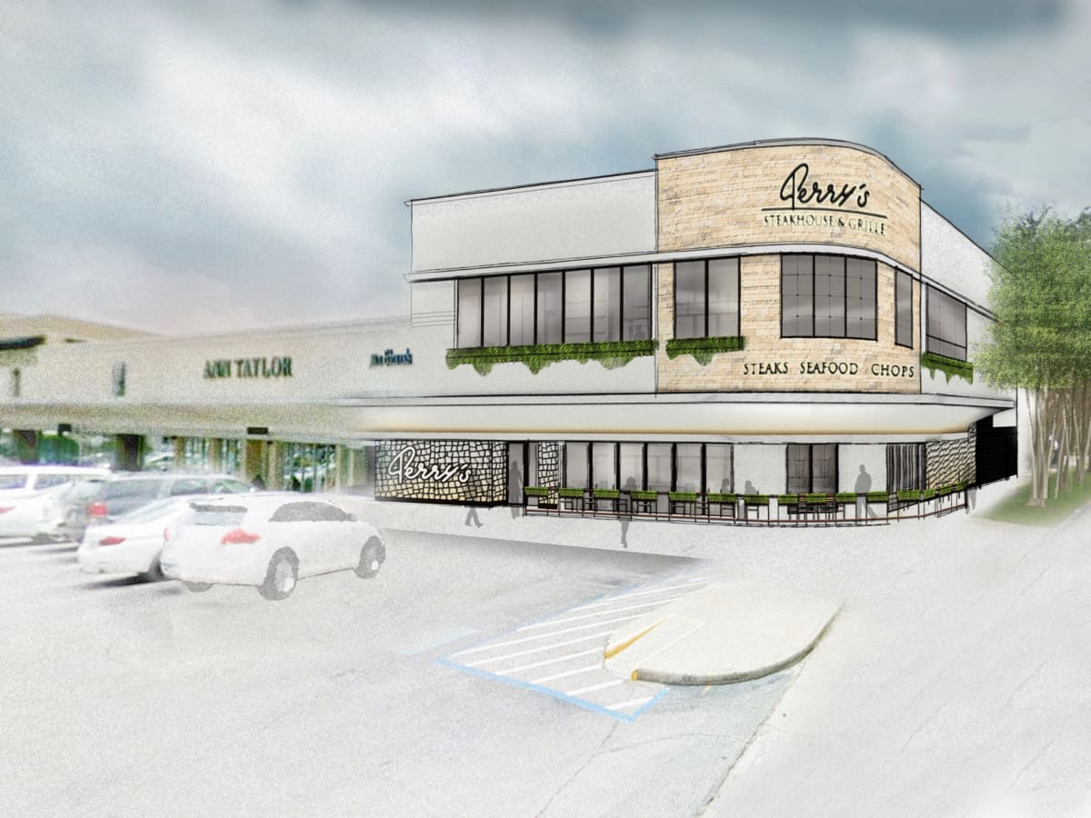 Perry's Steakhouse River Oaks rendering