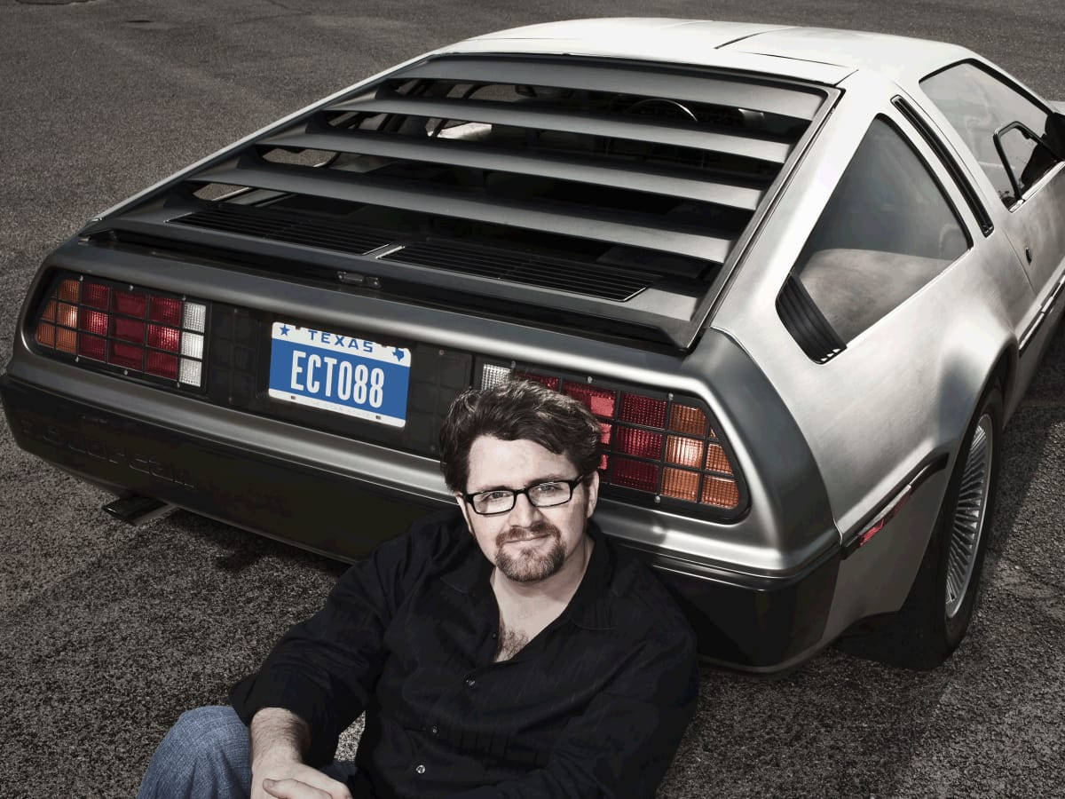Ernest Ernie Cline Austin author DeLorean Ecto 88