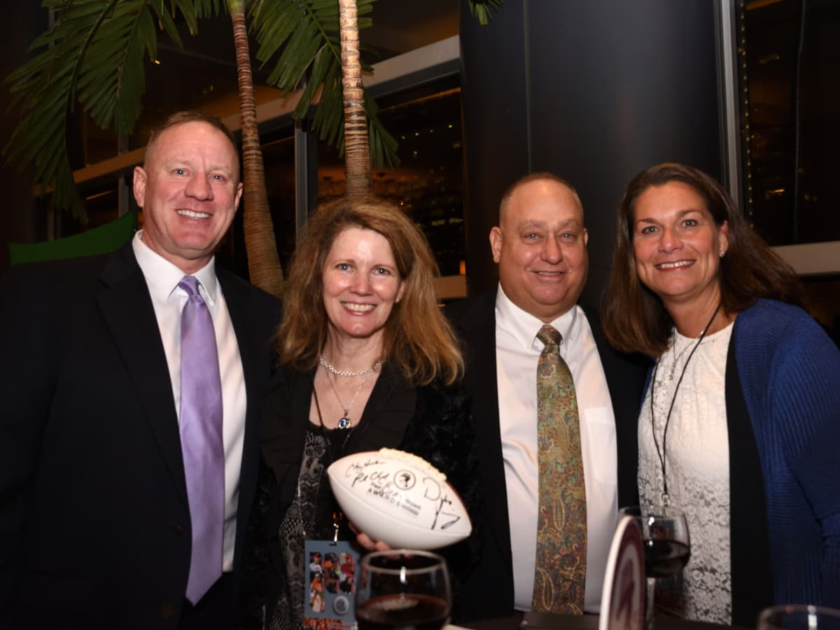 Houston, Bear Bryant Awards, January 2018, Dave Fenton, Michelle Hicks, Greg Thielemann, Sarah Longpre