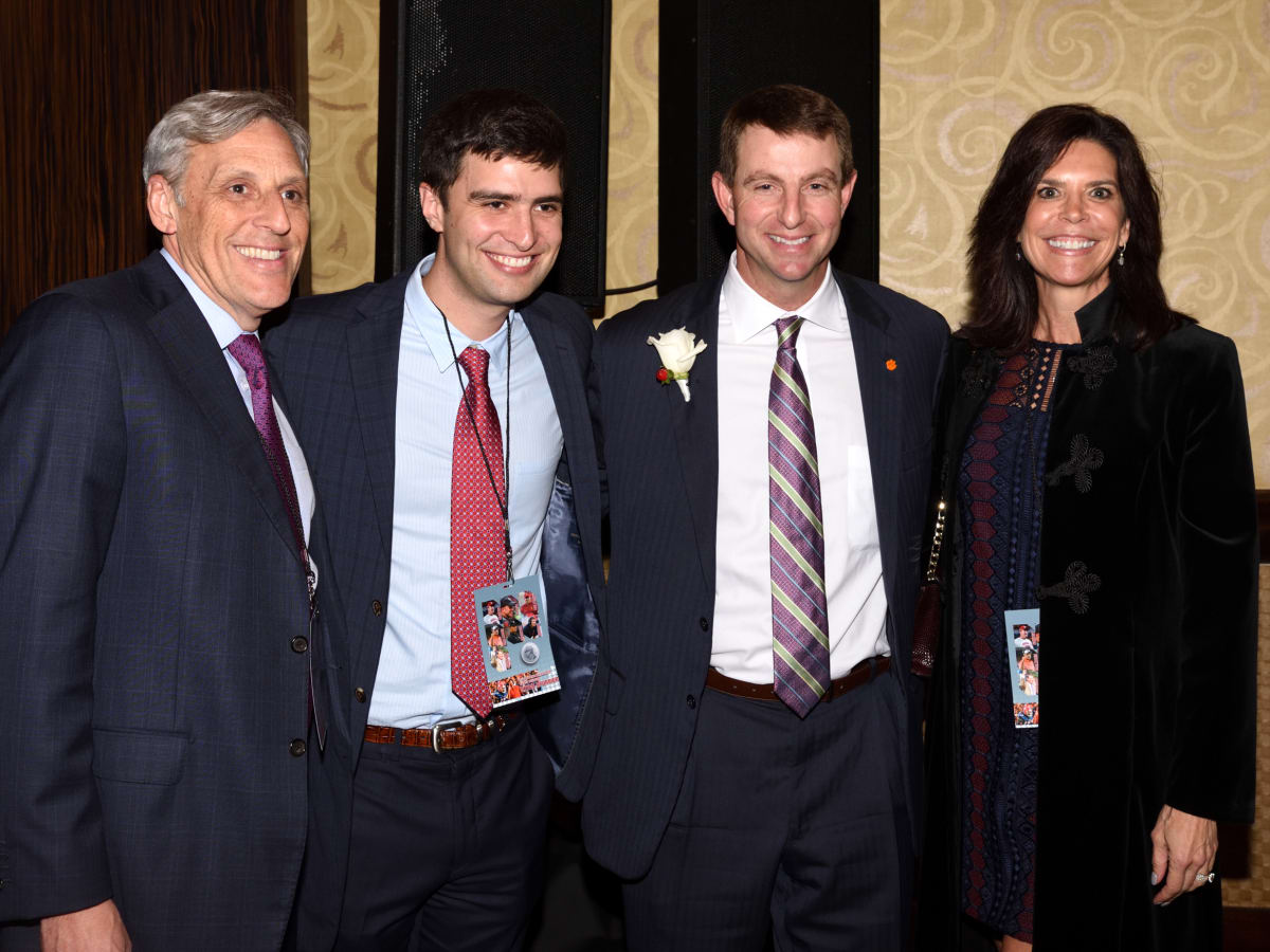Tom Segesta, Hunter Segesta, Dabo Swinney, Robin Segesta