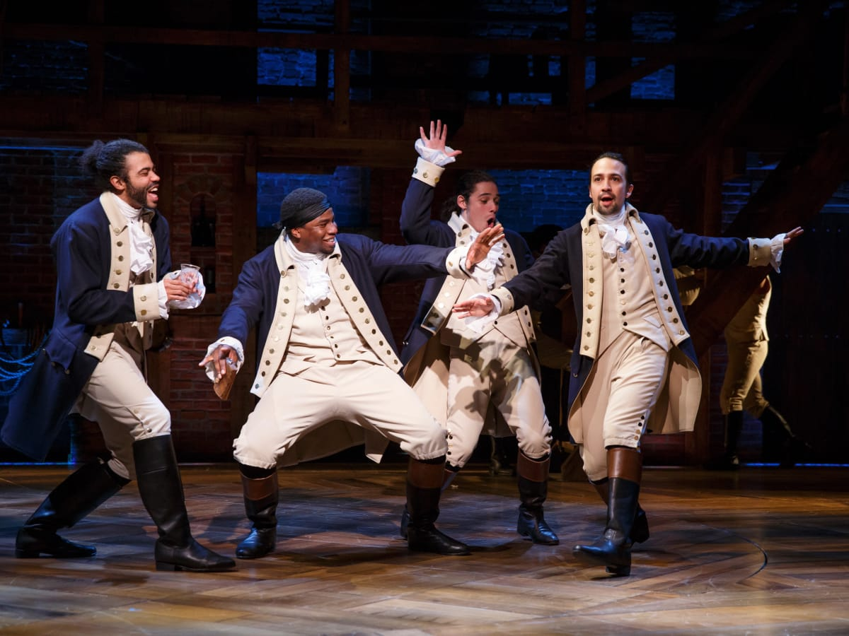 Lin-Manuel Miranda and the cast of Hamilton