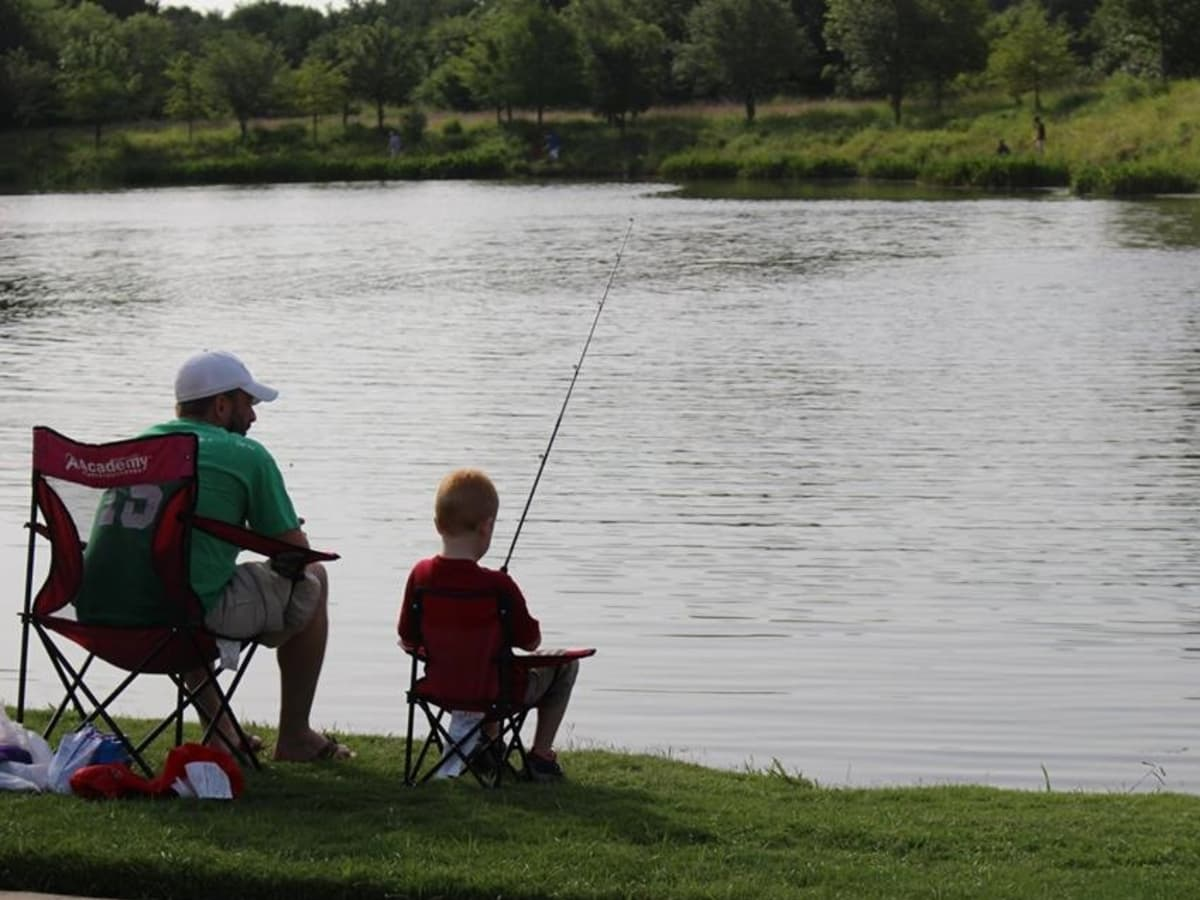 Fishing, Keller Town Hall Pond, Keller, Texas