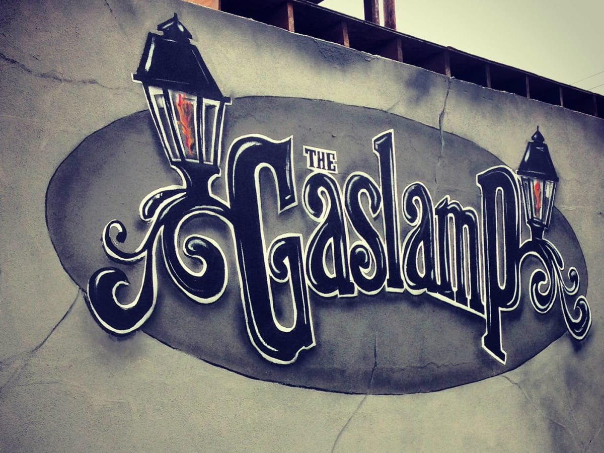 Gaslamp exterior marquee