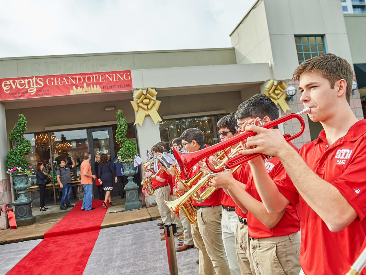 Events grand opening St Thomas marching band